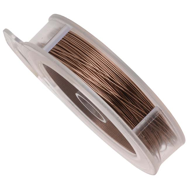 Artistic Wire, Copper Craft Wire 24 Gauge Thick, 20 Yard Spool, Antiqued Brass