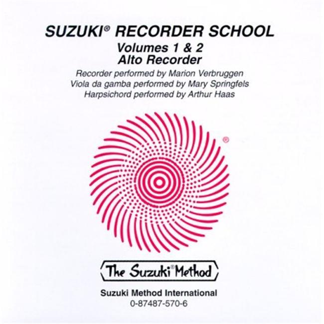 Alfred 00-0570 Suzuki Recorder School- Alto Recorder CD- Volume 1 & 2 Music Book by Alfred