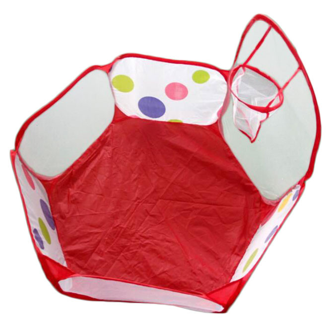 Mosunx Pop up Hexagon Polka Dot Children Ball Play Pool Tent Carry Tote Toy