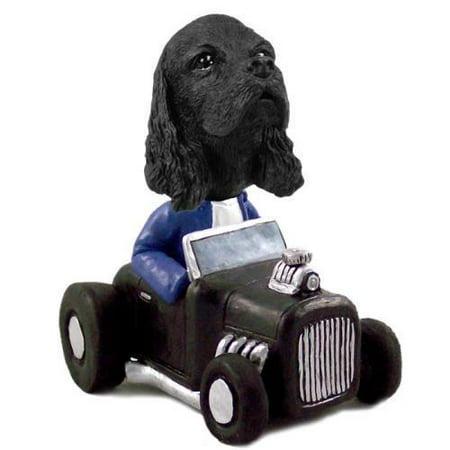 (NO.DOOG15B214 Cocker Spaniel Black Hot Rod Doogie Collectable Figurine)