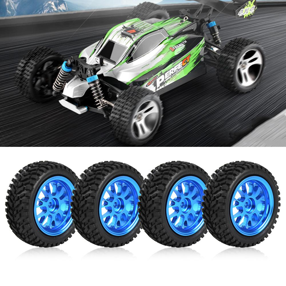 RC Crawler Tires Blue Metal Y-Shaped Rims Wheel for WL A959 A979 A969 1//18 Car