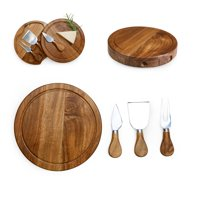 TOSCANA Acacia Brie Cheese Cutting Board & Tools Set