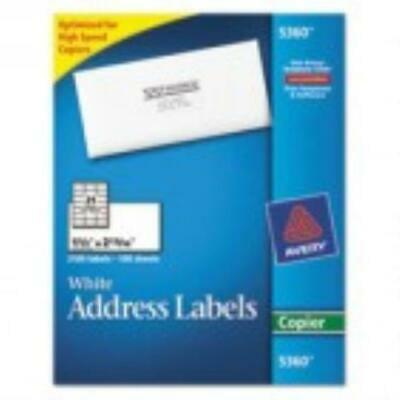 Avery Copier Mailing Labels, 1 1/2 x 2 13/16, White, 2100/Box Copier Mailing Label
