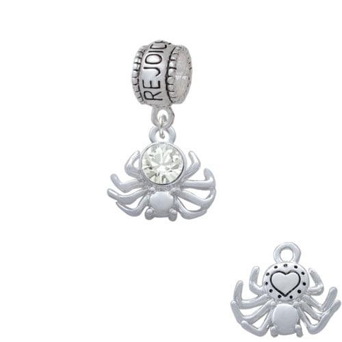 3-D Clear Crystal Spider - Rejoice Charm Bead