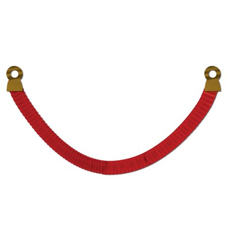 Club Pack of 12 Red Tissue VIP Red Rope Party Wall Decorations 8'](Vip Red Rope)
