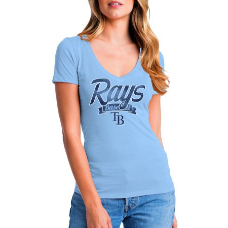 MLB Tampa Bay Rays Women's Short Sleeve Team Color Graphic (Reyes Baseball)