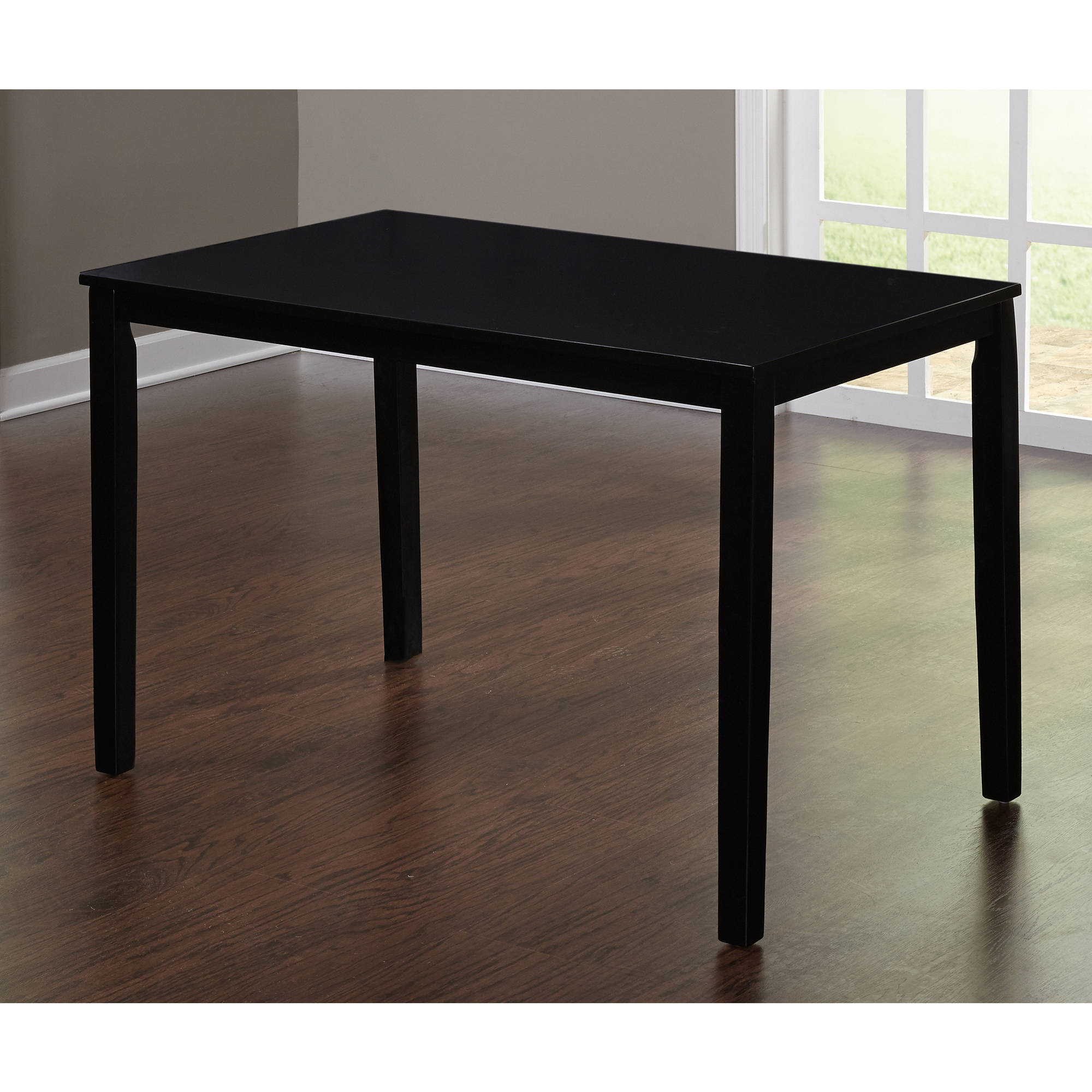 Contemporary Dining Table, Espresso - Walmart.com