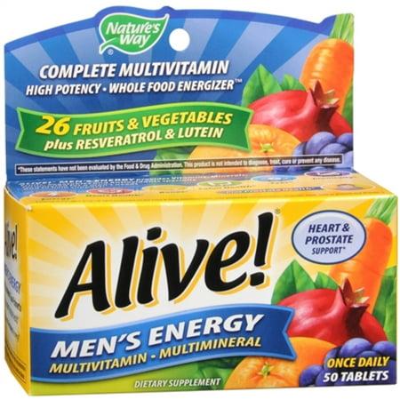 2 Pack   Alive  Tablets Mens Energy 50 Ea