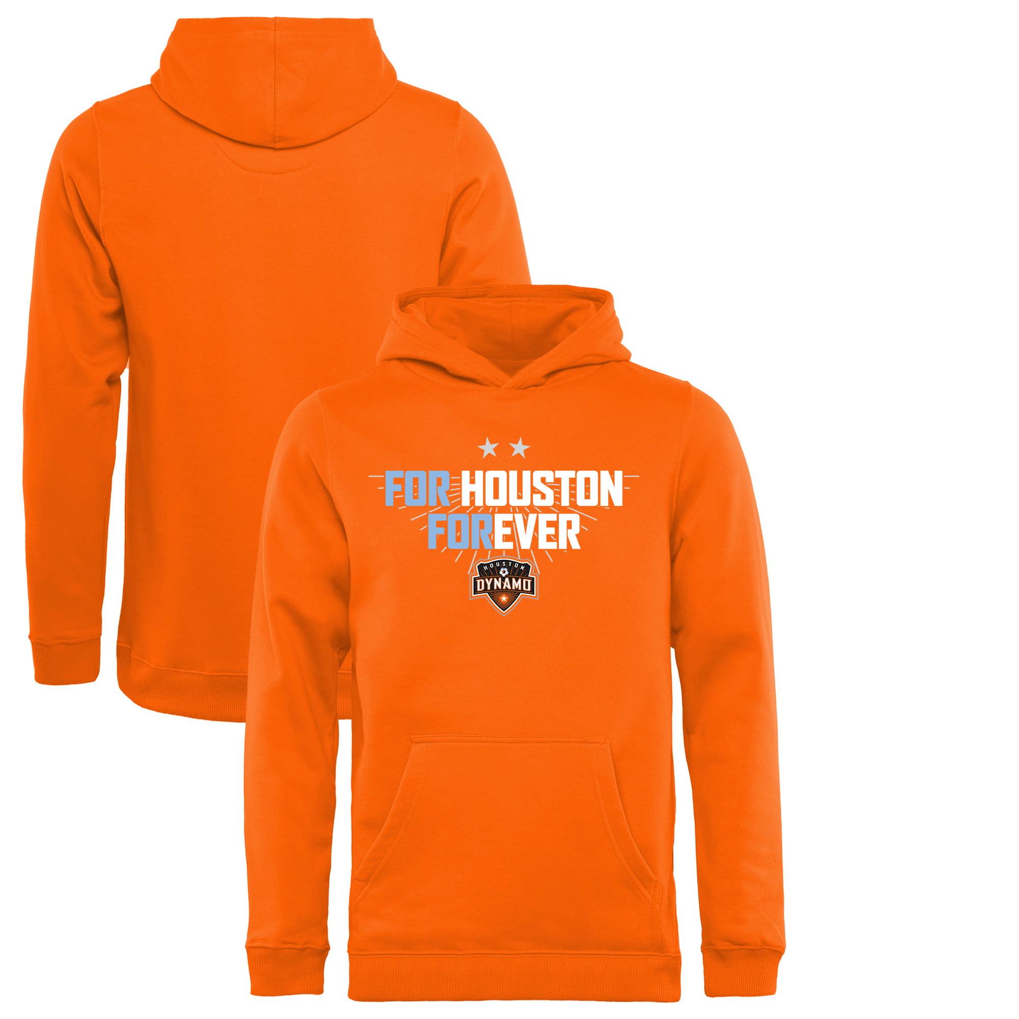 Houston Dynamo Fanatics Branded Youth For Houston Pullover Hoodie - Tenn Orange