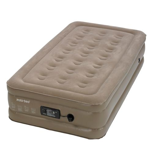 Insta-Bed Raised Twin Air Bed Mattress with Built-In Insta III Air Pump