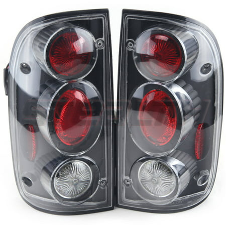 - Tail Light For 01-04 Toyota  Tacoma  Black/Clear Lens, Pair