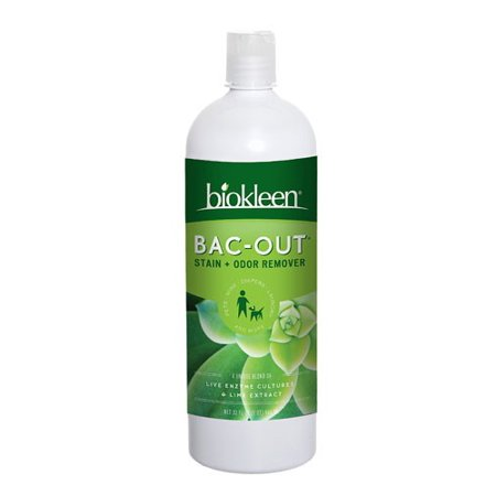 Biokleen Bac-Out Stain & Odor Remover Live Enzyme Cultures & Lime Extract, 32 Fl Oz
