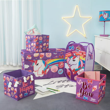 Nickelodeon Jojo Siwa Storage Set (Trunk, 2 pack cubes, Sequin Cube and Hamper)