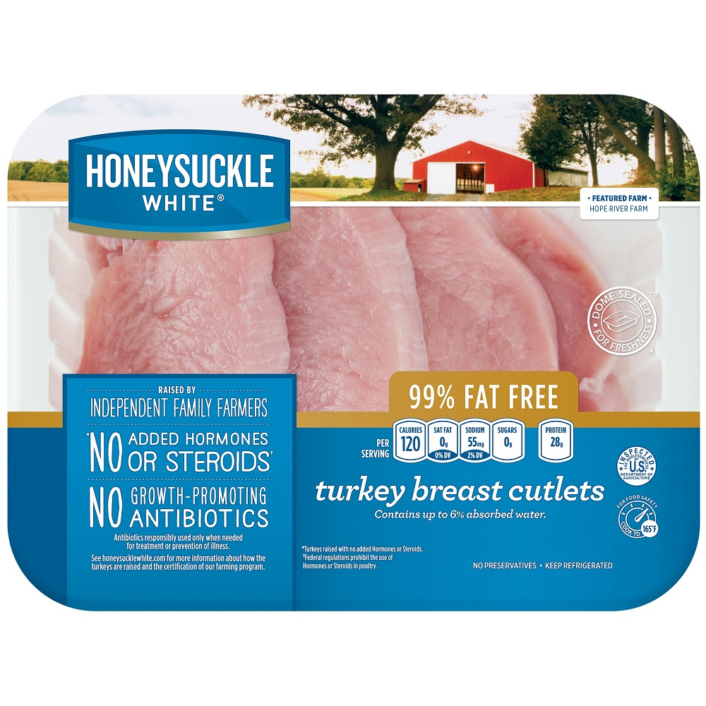 Honeysuckle White Fresh Turkey Breast Cutlets, 1.5-2.5 lb