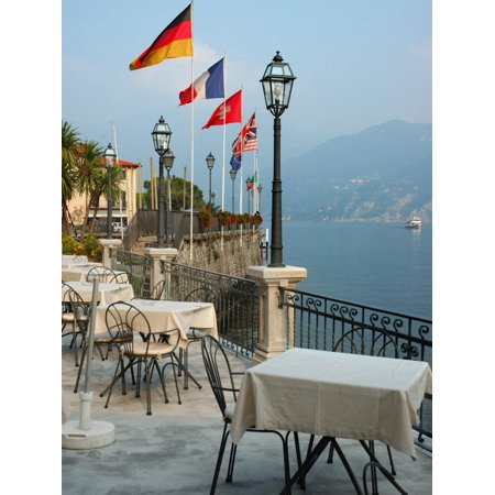 Lakeside Restaurant, Lake Como, Italy Print Wall Art By Lisa S. (Best Restaurants Lake Como)