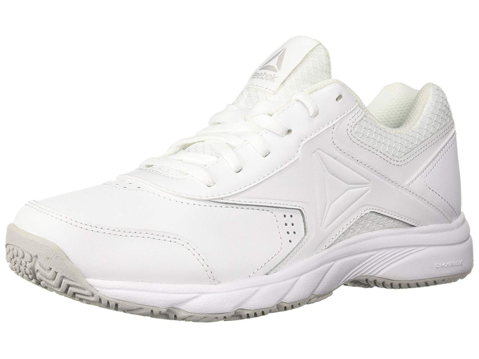 Reebok Women's Work N Cushion 3.0 Walking Shoe, White/Steel_whi, Size 10.5