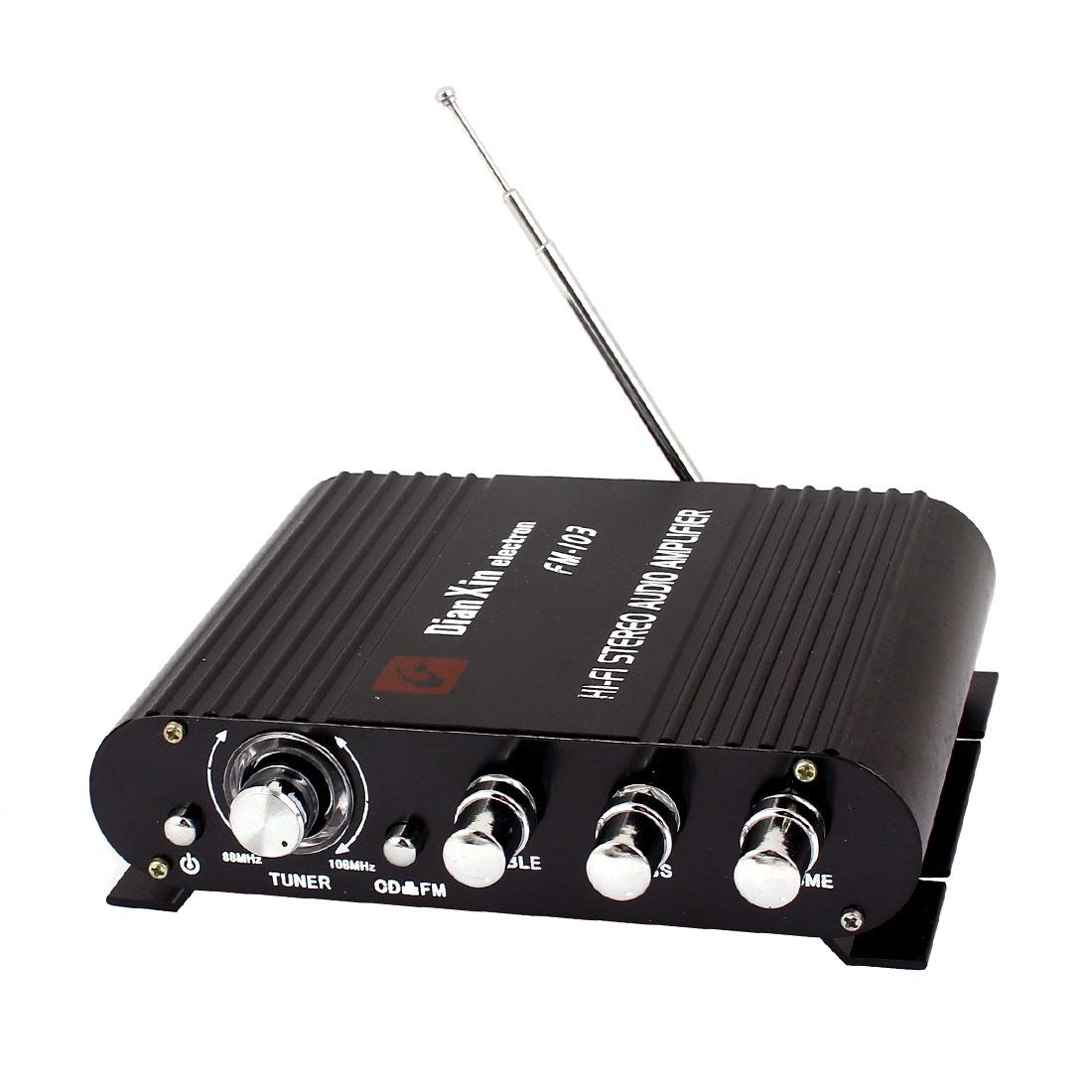 Car Automotive Press Button Switch Control 200W 2 Channel Audio Amplifier