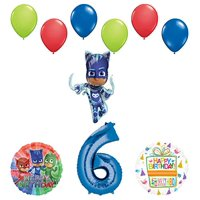 Mayflower Products PJ Masks Catboy 6th Birthday Party Supplies Balloon Bouquet Decorations