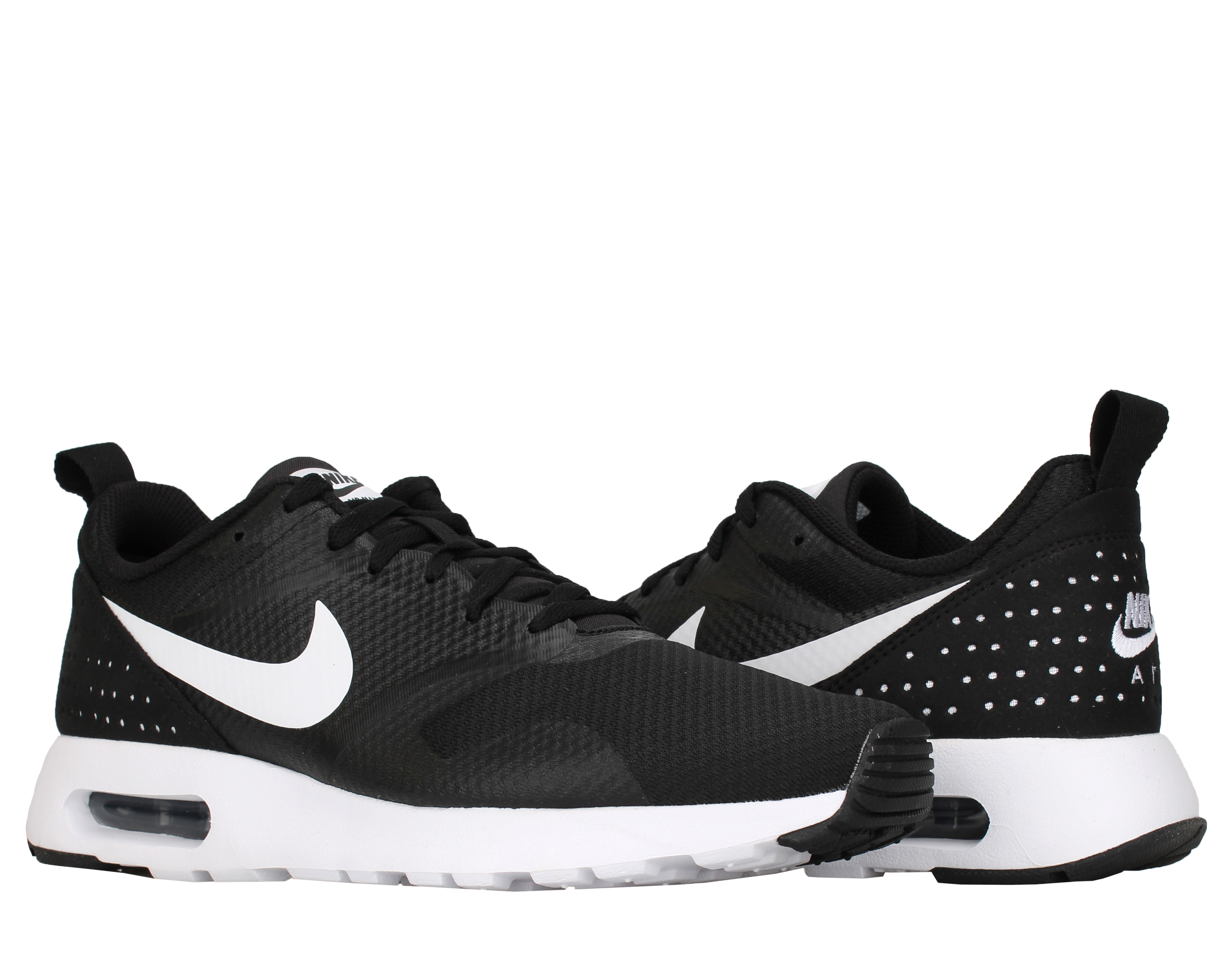 Nike Men's AIR MAX TAVAS Running Shoes Black/White 705149-009 b