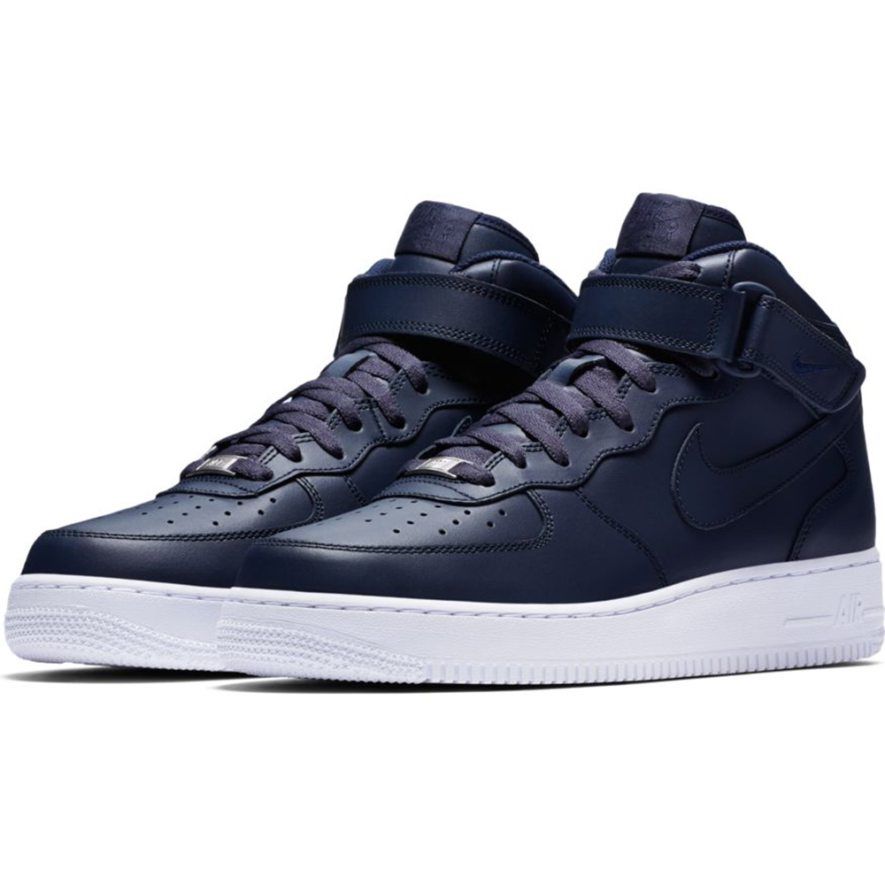 Nike Men's Air Force 1 Mid '07 Basketball Shoes, Obsidian 7.5