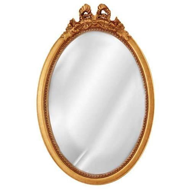 HMH 5110AG Oval Bow Mirror - Antique Gold