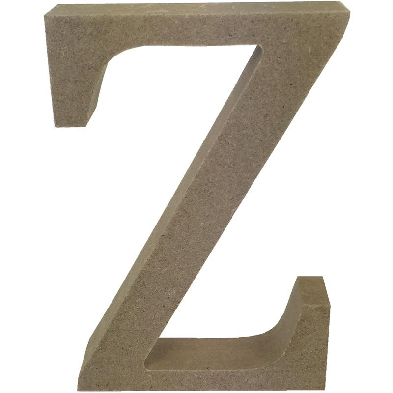 Smooth Mdf Blank Shape-serif Letter Z