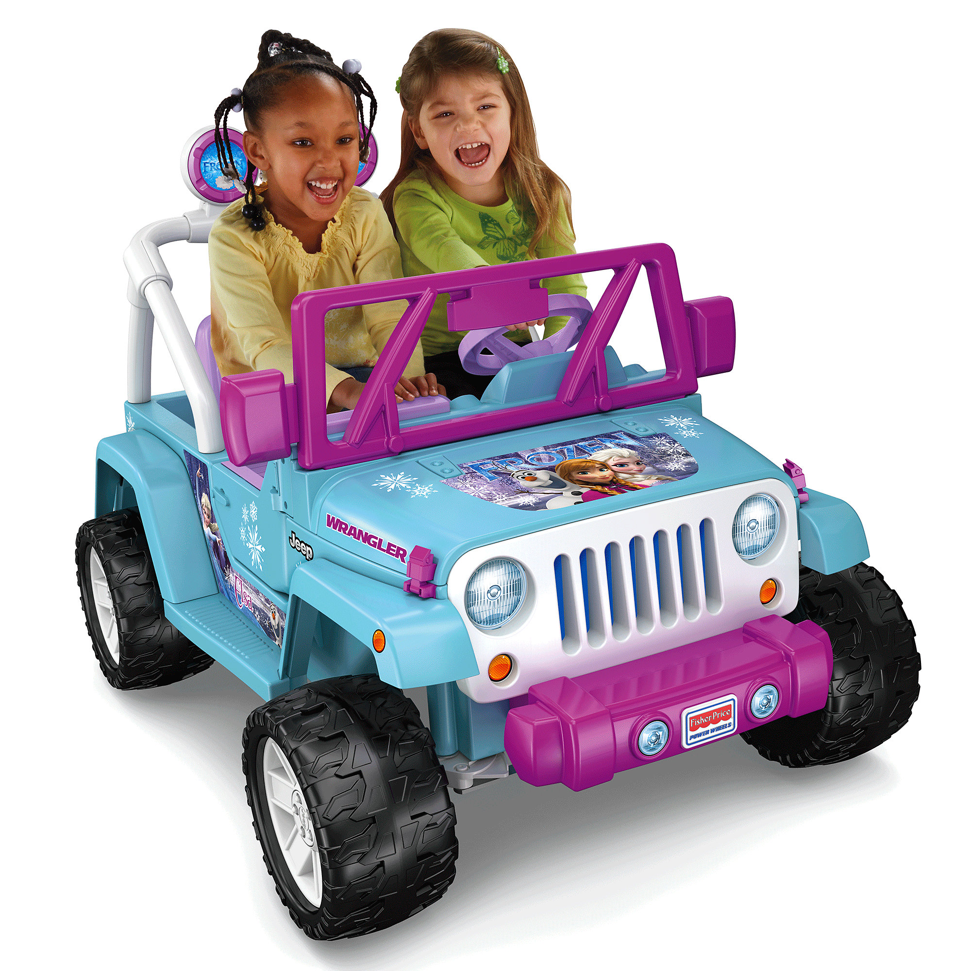 Power Wheels Disney Frozen Jeep Wrangler 12-Volt Battery-Powered Ride-On by Mattel