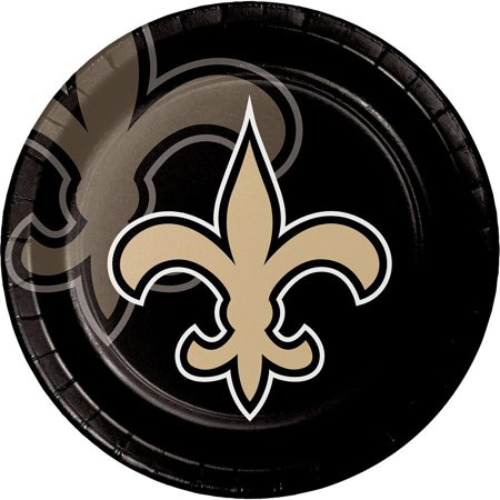 Creative Converting New Orleans Saints Paper Plates, 8 ct](Wedding Supplies New Orleans)