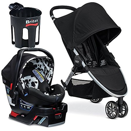 britax 2017 b agile b safe 35 elite travel system cup holder cowmooflage. Black Bedroom Furniture Sets. Home Design Ideas