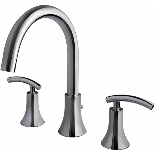 Ultra Faucets UF65100 Chrome 2-Handle Contemporary Roman Tub Faucet