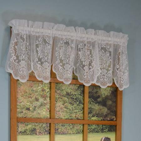 Ophelia & Co. Becca Floral Lace 56'' W x 13'' L Valance (Wayfarer White)