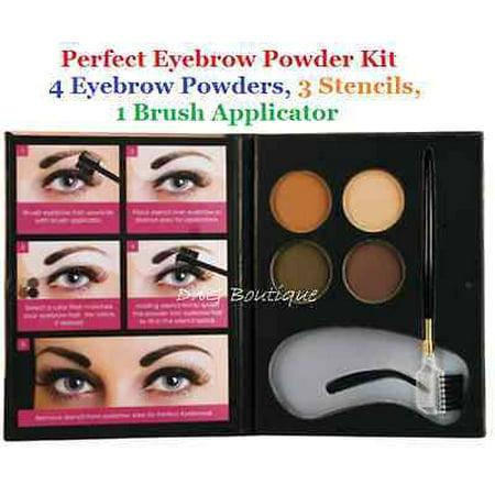LWS LA Wholesale Store  Beauty Treats Eyebrow Kit : 4 Eyebrow Powders, 3 Stencils, 1 Brush Applicator (Wholesale Stores Online)