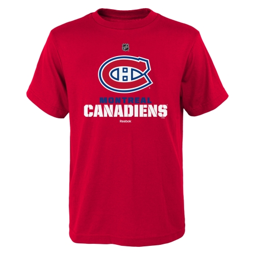 Montreal Canadiens Reebok Youth Clean Cut T-Shirt - Red