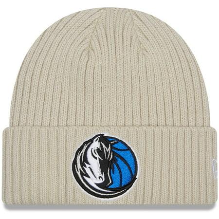 Dallas Mavericks New Era Core Classic Stone Cuffed Knit Hat - Cream - OSFA