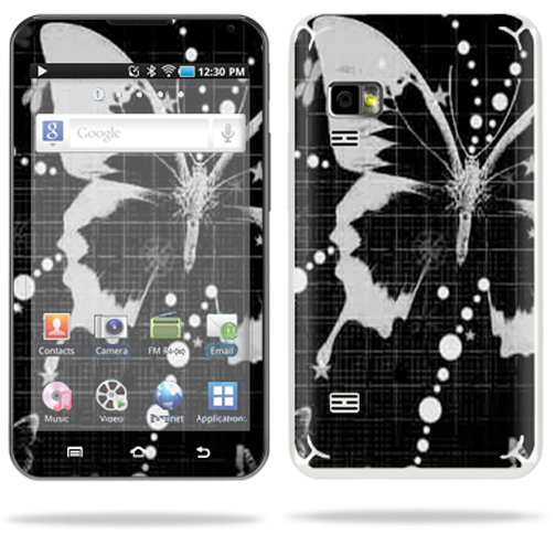 Skin Decal Wrap cover for Samsung Galaxy 5.0 MP3 Player Black Butterfly