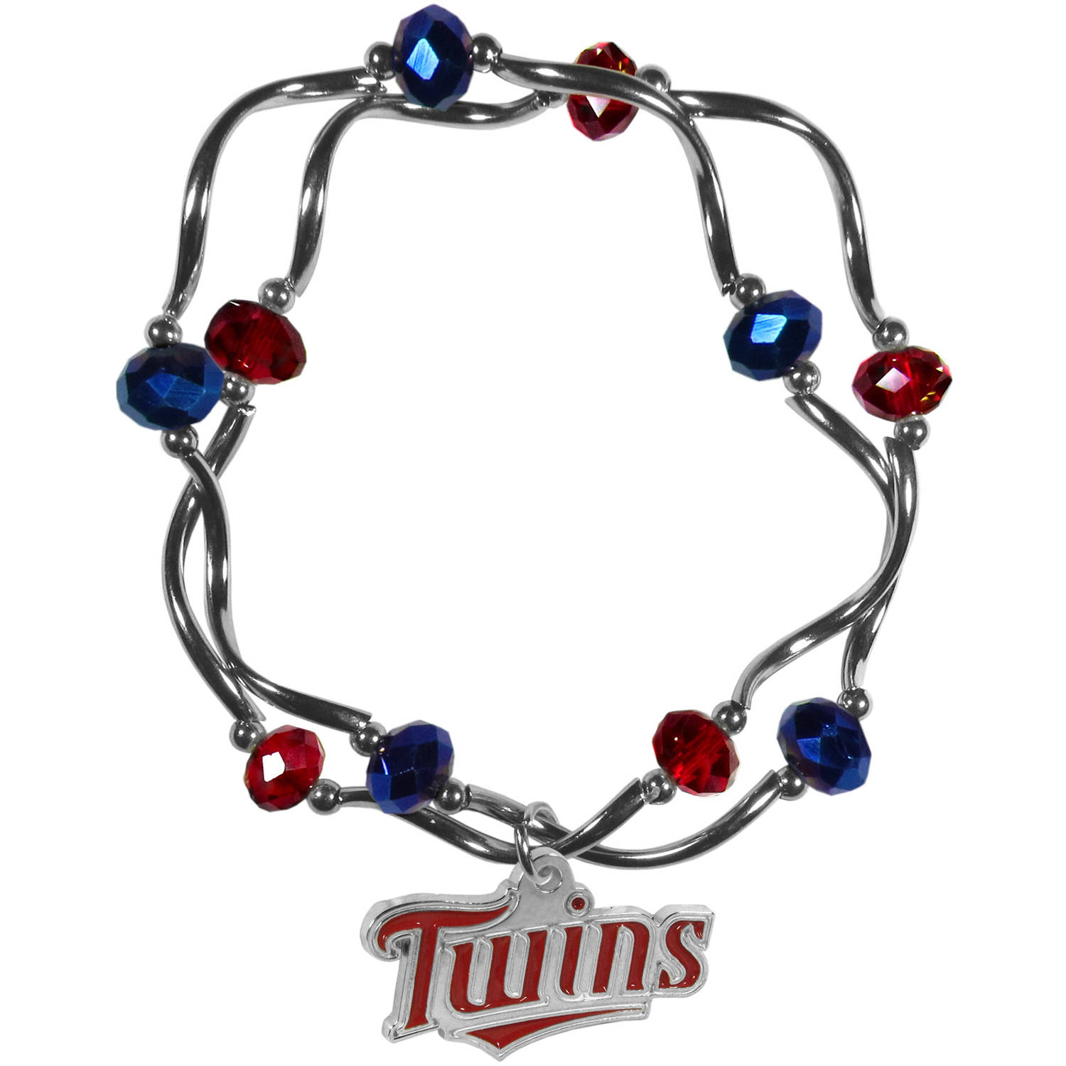 MLB Minnesota Twins Stretch Bead Bracelet