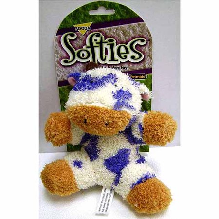 Petmate Doskocil Co. Inc. Terry Cow Softies Dog Toy, (Co Dog Toy)