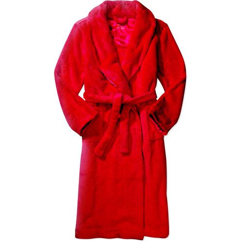 Faded Glory - Women's Plaid Plush Robe