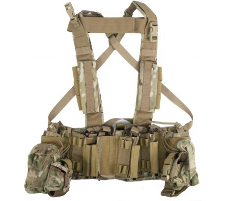 Tactical Assault Gear Intrepid Chest Rig w/Grenade & Mag Pouches - Multicam 8124