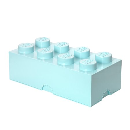 LEGO Storage 8 Brick Toy Box, Aqua Toy Box Dimensions