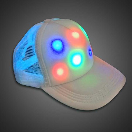 LED HAT- Light Up Baseball Hat Glow Party Cap Fashion Rave/Hunting hat-LED Cap Lighted Trucker Baseball Hat - Led Lights For Hats