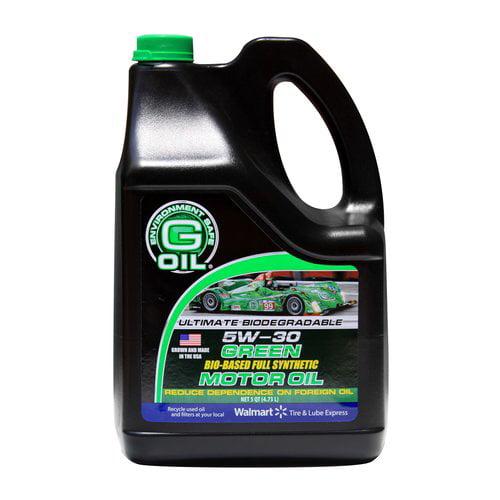 G-Oil 5W-30 Bio-Synthetic Motor Oil, 5qt