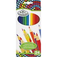 Royal & Langnickel Essentials Colored Pencils 24-Color Set - 24-Color Set