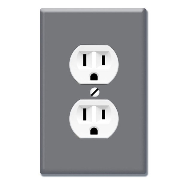 Wirester 1 Gang Duplex Outlet Cover Wall Plate Switch Plate Cover Solid Dark Gray Walmart Com Walmart Com