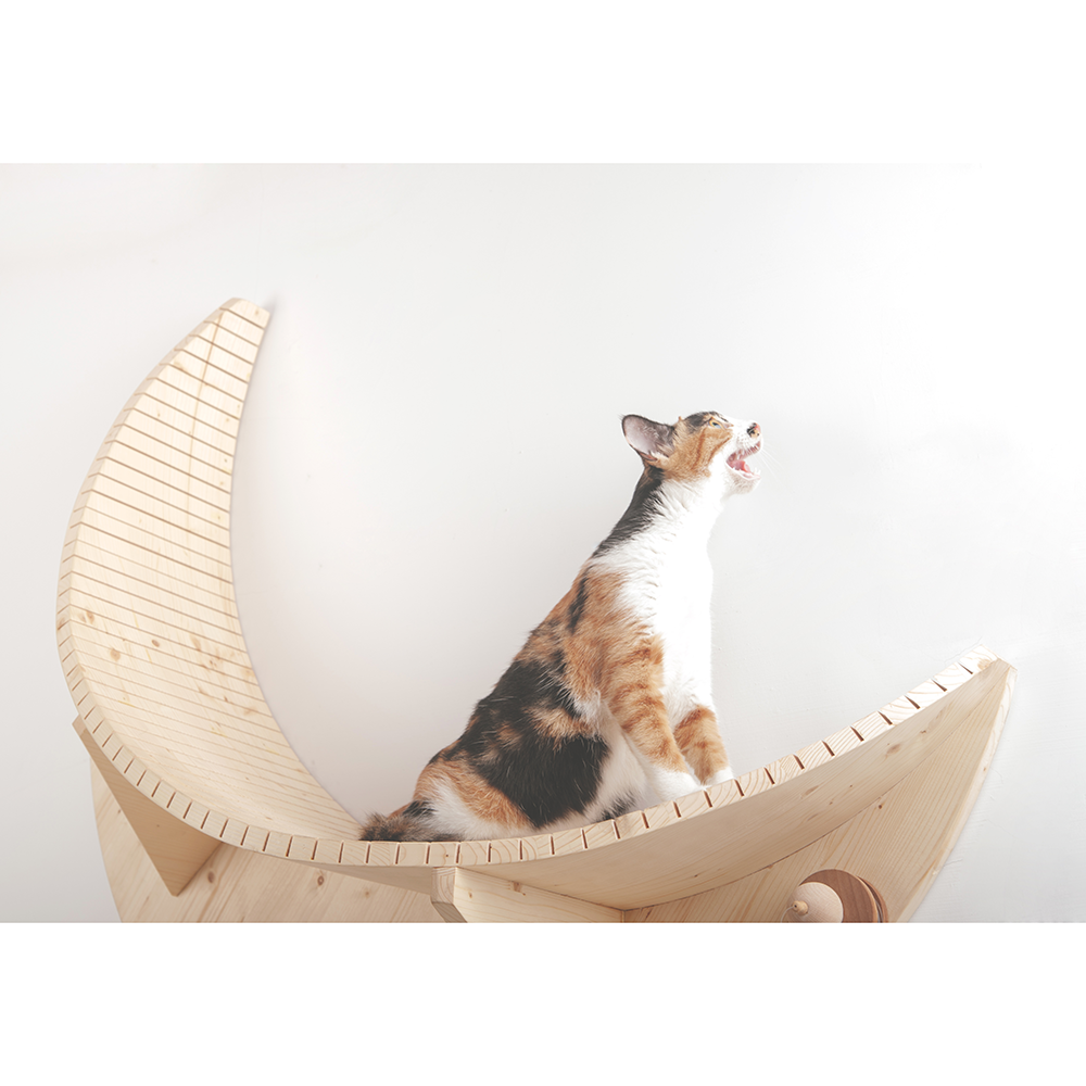 Luna Crescent Moon Shape Wall Mounted Cat Bed Walmart Com Walmart Com