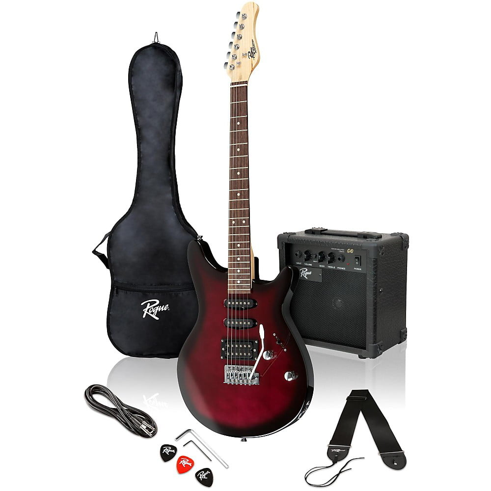 Rogue Rocketeer Electric Guitar Pack Wine Burst by Rogue