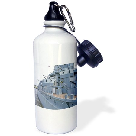 3dRose USS Alabama Battleship Memorial Park Mobile Alabama - US01 MGI0027 - Mark Gibson, Sports Water Bottle, 21oz