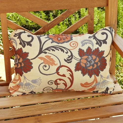 Mozaic Company Clara Beige/ Grey Indoor/ Outdoor Sunbrella Accent Pillows (Set of 2)