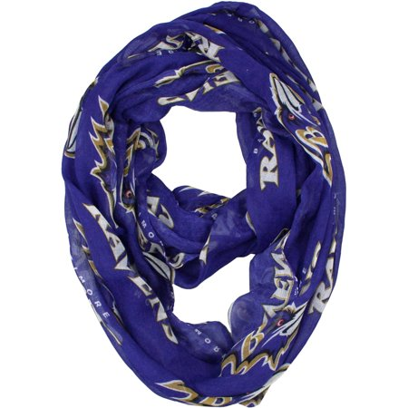 Little Earth - NFL Sheer Infinity Scarf, Baltimore