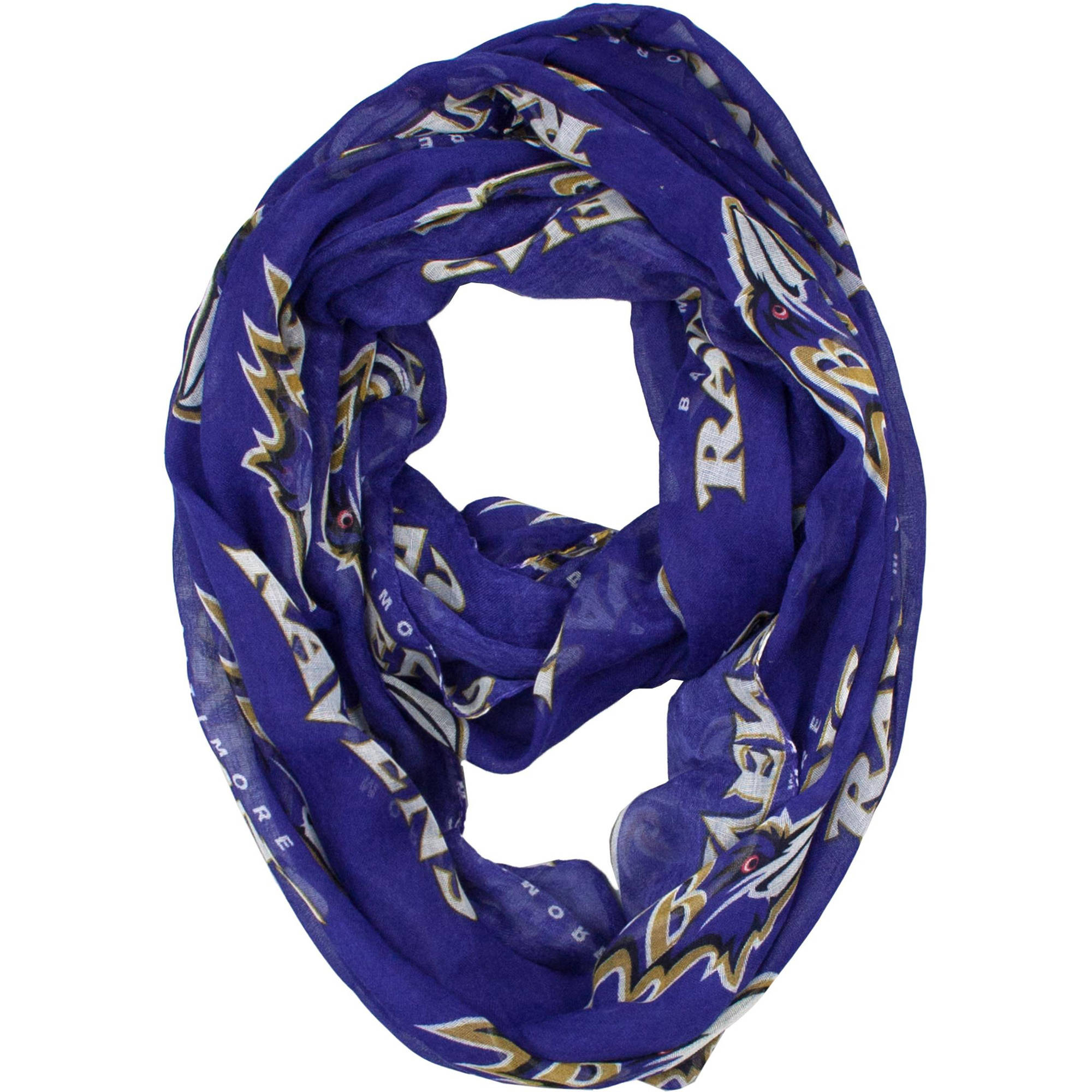 Little Earth - NFL Sheer Infinity Scarf, Baltimore Ravens